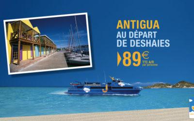 89€ aller-retour à Antigua