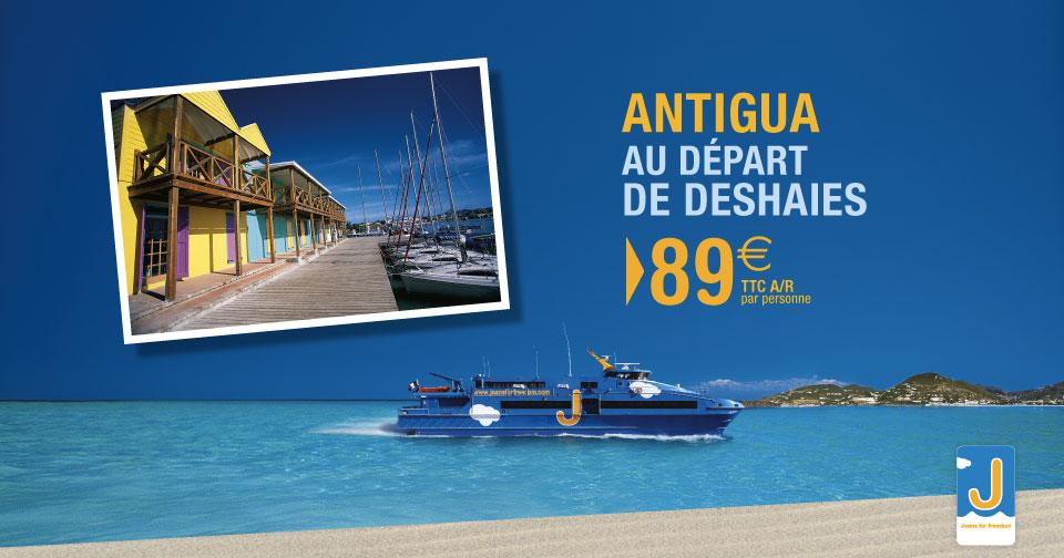 89€ aller-retour Guadeloupe Antigua