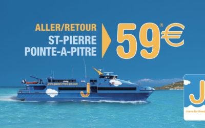 59€ aller-retour entre la Guadeloupe et Saint-Pierre