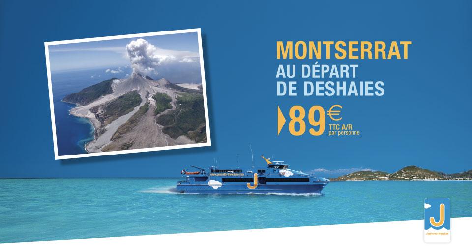 89€ aller-retour Guadeloupe  Montserrat