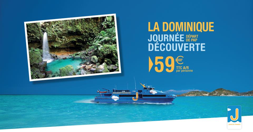 Voyagez en Dominique pour la journée à tarif PROMO